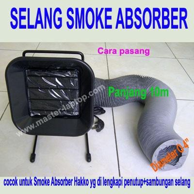 large2 smoke absorber Selang pemasangan