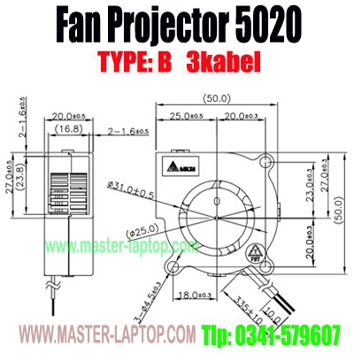 large2 Fan Projector 5020B